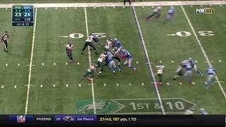 Detroit Lions corner back Darius Slay clinches the victory with a late interception of Philadelphia Eagles quarterback Carson Wentz.---I do not own this clip----