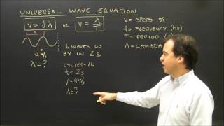Wave Introduction Universal Wave Equation V=f*Lambda Calculations