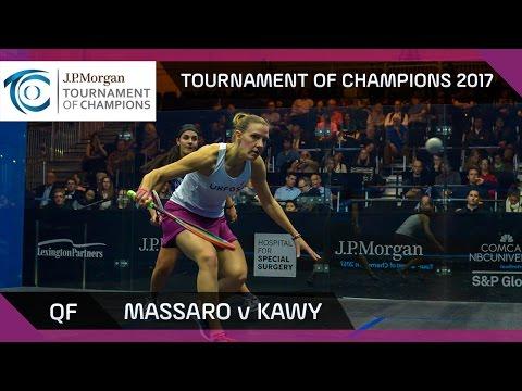 Squash: Massaro v Kawy - Tournament of Champions 2017 QF Highlights