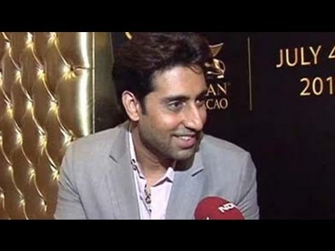 abhishek bachchan - Abhishek Bachchan, in conversation with NDTV, takes a quick quiz on IPL and talks about his favourite team Mumbai Indians.