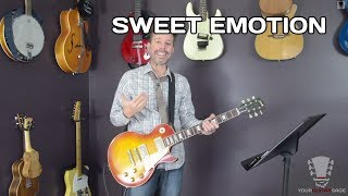 How to play Sweet Emotion by Aerosmith - Guitar Lesson