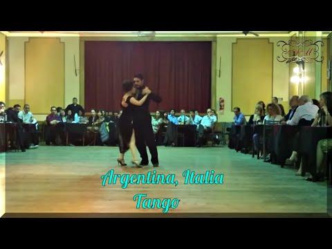 GIOVANNA DI VINCENZO y MARTIN ALMIRON en Yira Yira milonga, Buenos Aires