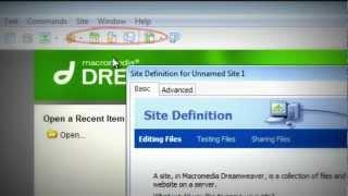 วิธีการสร้างไซต์ด้วย Dreamweaver 8