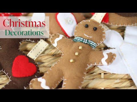 DIY: Felt Christmas Decorations