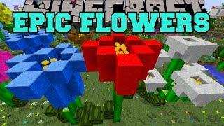 Minecraft: EPIC FLOWER MOD (GIANT FLOWER BIOME, FLOWER CREATOR,&MORE!) Mod Showcase