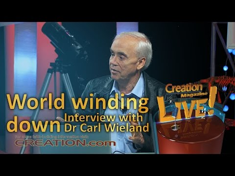 World winding down — an interview with Dr Carl Wieland (Creation Magazine LIVE! 3-20)
