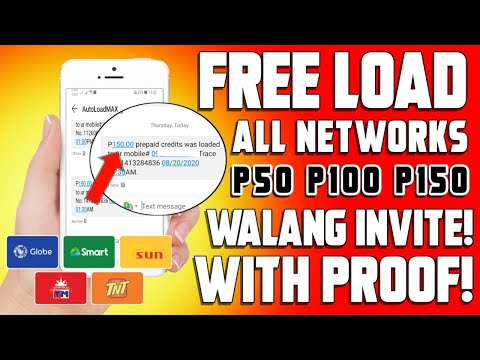 Free load app 2020 - Unlimited P150 Load to All Networks | No invite with Proof!