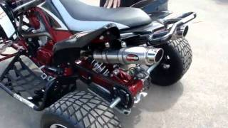 3. Custom Spec Yamaha Raptor 700R with Scorpion Dual Exhaust