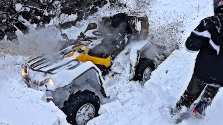 9. Can-Am Outlander 570 L MAX On Zilla's | DEEP SNOW |