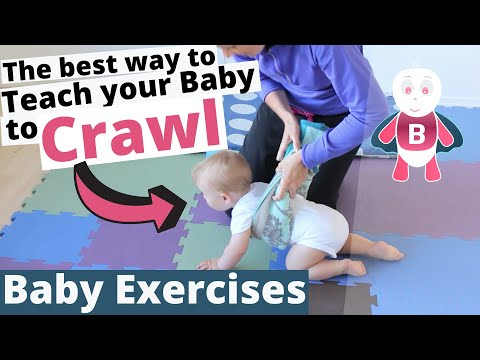How to Teach Baby to Crawl vol. 3 - Baby Exercises #6-9 Months - Baby Activities, Baby Development