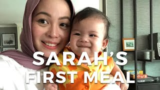 Video Sarah's first meal | Vivy Yusof MP3, 3GP, MP4, WEBM, AVI, FLV April 2019