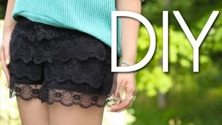 DIY Cute & Easy Lace Shorts / Old to New {How to Make}