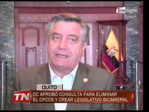 CC aprobó consulta para eliminar el CPCCS y crear legislativo Bicameral