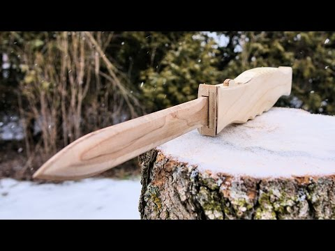 Making A Wooden OTF Switchblade