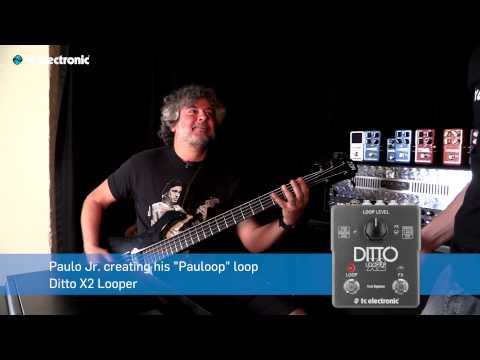 "Paulo Jr. (Sepultura) creates his ""Pauloop"" Loop for Ditto X2 Looper"