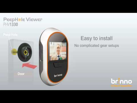spioncino brinno brinno phv 1330 spioncino digitale the digital door viewer