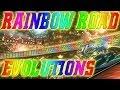 Mario Kart Rainbow Road Evolution (1992 - 2014)