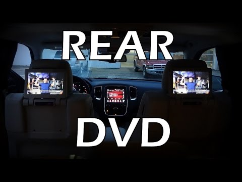 2015 Rear DVD Blu-Ray Compatible Dual Screen Video In Dodge Durango