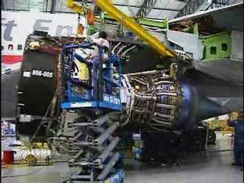 Montagem, teste das turbinas GE