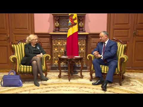 Igor Dodon met with the member of the Eurasian Economic Commission Tatiana Valovaia