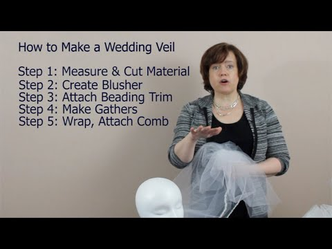 {diy Video} The 5 Steps To Making Your Wedding Veil