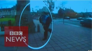 Ottawa shooting: CCTV shows suspect arriving at parliament - BBC News
