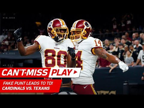 Video: Redskins Fake Punt Play Leads to Kirk Cousins' 40-Yd TD Pass! | Can't-Miss Play | NFL Wk 11