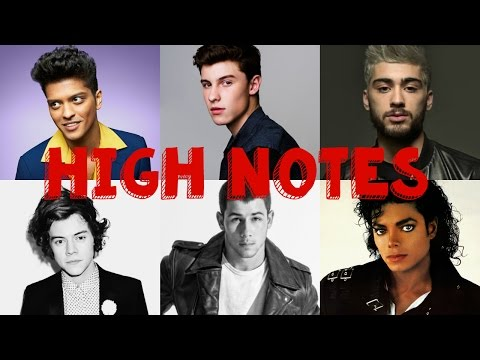 MALE SINGERS HITTING HIGH NOTES (C5-C6)