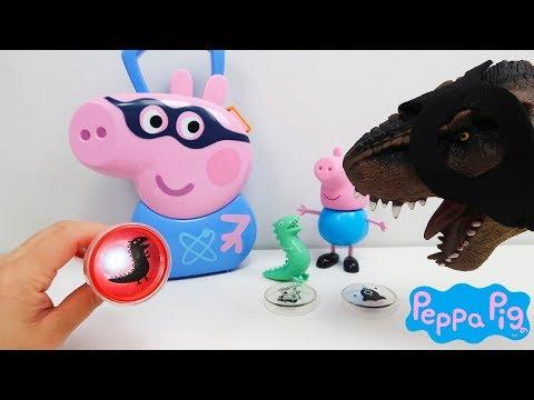Seu Dinossauro Aventureiro Com Maleta Kit Pig George Super Herói Peppa Pig