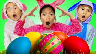 Video Wendy Pretend Play Huge Easter Surprise Eggs Hunt w/ Liam & Lyndon MP3, 3GP, MP4, WEBM, AVI, FLV April 2019