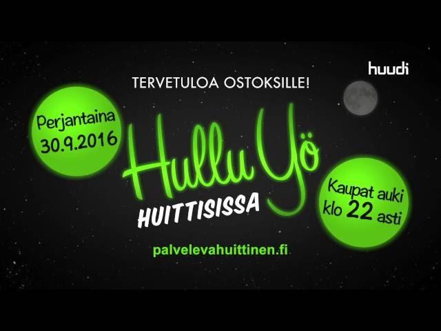 Huudi - mainospaketti - Huittinen - Kauppakaupunki - 20.9.2016