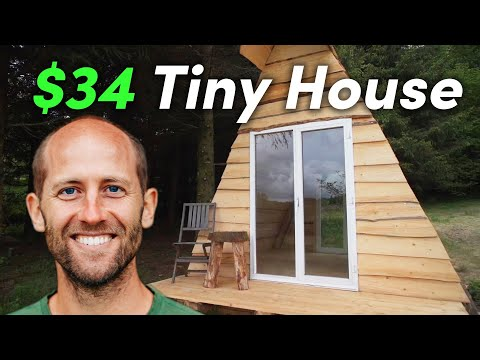 We Built A $34 Tiny House In 3.5 Days