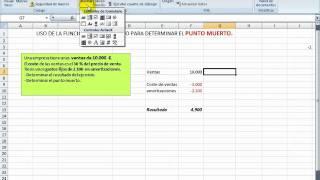 Punto muerto en Excel