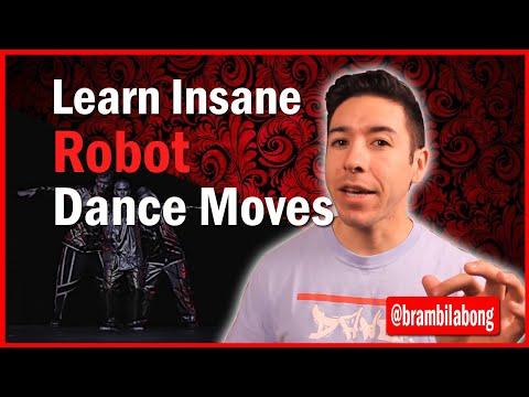 Поппинг: техника танца робот. Урок видео обучения.