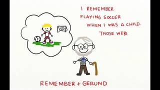 Verb Gerund, Infinitive (Stop, Remember, Forget)