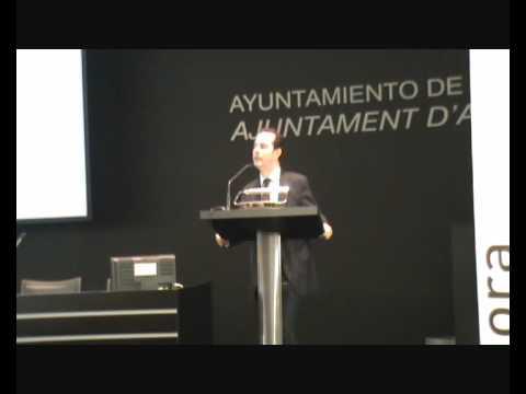 Presentación del Concejal de Empleo y Fomento D. Carlos Castillo en la clausura del P. Aprende a Emprender