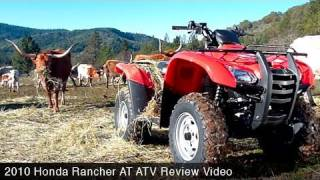 1. MotoUSA 2010 Honda Rancher AT ATV Review
