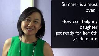 A http://www.door2math.com production.With only a few weeks to go before summer ends and school starts, here's how to gauge if your 6th grader is ready for math and then prepare her for math success.Learn this quick 5-minute Magic Triangle and gauge your 6th graders' math readiness. There is still plenty time to catch and gear up before school starts. Math life for your child is easier when she is not falling behind before school starts.Math Counselor: Feenix Pan, Ph.D.www.door2math.comBio: 3 Advanced degrees. Founder and owner of Door-2-Math. Mother, wife and avid tennis player.Series Description: Mathematics is important to everyday life, self-confidence and freedom to pursue one's career passion. Help your child get a handle on basic concepts as early and as often as possible. Get tips and insights on the best practices of math and learning. Put that Math Smile on your child with Dr. Pan's help.
