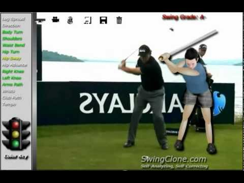 Phil Mickelson  SwingClone Kinect Animated Golf Lesson and Analysis