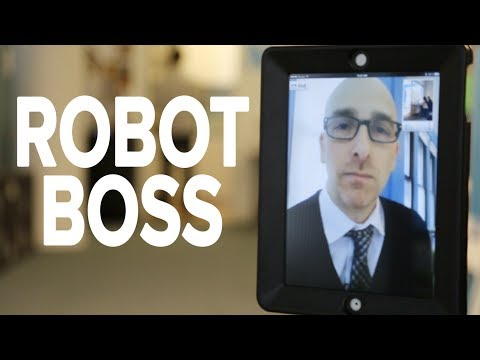 robot - We've all had bosses that we didn't like. Now imagine if yours was a robot. We got our hands on a Double Telepresence Robot and took it for a spin around the...
