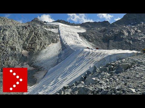 La ritirata del ghiacciaio: ecco come appare il Presena
