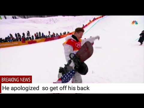 Shaun White Drags Flag On Ground