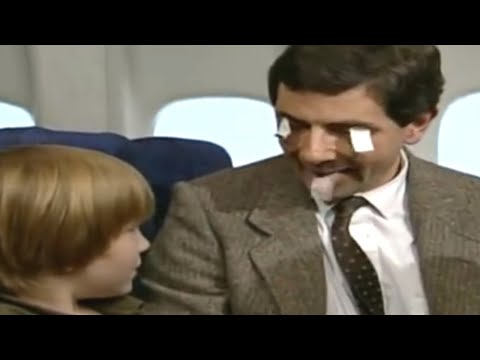 plane travel - Mr Bean is asked to look after a poorly child on an aeroplane. He tries to distract him in many ways. Funny clip from Mr Bean Rides Again. mr bean mr. mister...