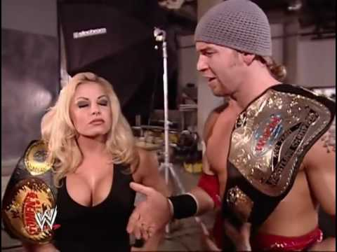 Backstage Segment with Trish Stratus, Chris Jericho and Christian
