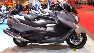 8. 2016 Suzuki Burgman 650 Executive - Walkaround - 2016 Toronto Motorcycle Show