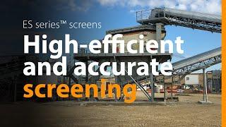 Metso ES screen - more features