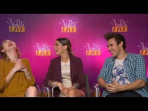 Violetta Live en Francia 2015 - entrevista a Jorge, Martina y Mechi