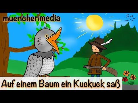 Kinderlieder deutsch - Auf einem Baum ein Kuckuck saß - Kinderlieder zum Mitsingen