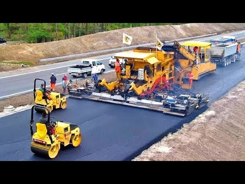 World Amazing Modern Road Construction Machines, Incredible Fastest Asphalt Paving Equipment Machine