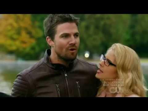DCs Legends of Tomorrow 3x08 Ending scene Barry marries Iris & Oliver marries Felicity
